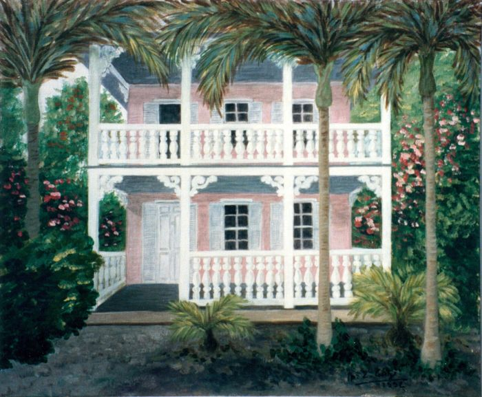 Maison rose à Key West (2e  version)