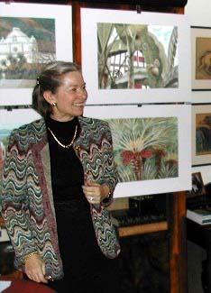 Marie-Elisabeth Gorge lors de son exposition en novembre 2002